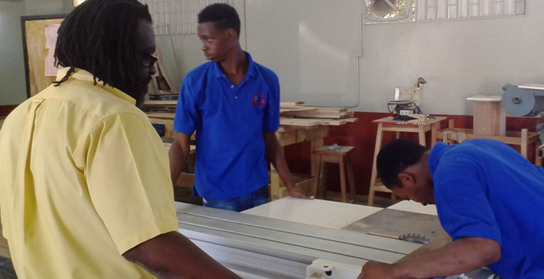 Trainees Learning Furniture Building